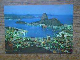 Brésil , Rio De Janeiro , Vista Noturna , Ensuada Do Botafogo E Päo De Açücar - Rio De Janeiro