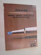 SPI2020  Issu De Revue Spirou Années 70 / PAGE DE PUBLICITE : STYLO FEUTRE MONT-BLANC - Advertising
