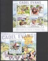 BC648 2011 GUINE GUINEA-BISSAU CYCLING CADEL EVANS WINNER TOUR DE FRANCE KB+BL MNH - Cycling