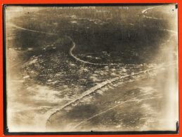 Ww1 Meuse Photo Aérienne 20-8-1917 Vue D'Avion Bois Du Fays Poilus Guerre Des Tranchées Du Larroy 24x18 Cm - 1914-18