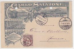 Bellinzona - Carlo Salvioni - Lithografia/Tipografia - Litho Precursore - 1892 !!!      (P-244-91020) - TI Tessin