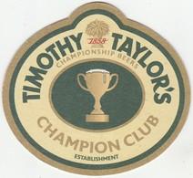 BEERMAT - TIMOTHY TAYLOR BREWERY  (KEIGHLEY, ENGLAND) - CHAMPION CLUB - (Cat No 117) - (2017) - Portavasos