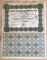 ODOL - SAINT OUEN / 1928 - 4 EXEMPLAIRES  1/5e DE PART BENEFICIAIRE AVEC COUPONS (ref GF173) - Industrie