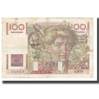 France, 100 Francs, Jeune Paysan, 1952, D AMBRIERES, GARGAM, 1952-09-04, TB+ - 1871-1952 Circulated During XXth