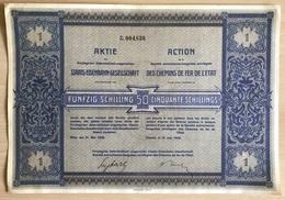 """AUTRICHE HONGRIE / 1926 VIENNE ACTION DE 50 SH. """"CHEMINS DE ER DE L'ETAT  (ref GF172) - Chemin De Fer & Tramway"""