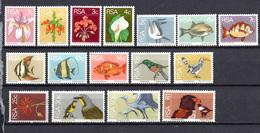 1974 -  SUD AFRICA -  Mi. Nr.  447/462 - NH - (AS2302.46/47) - Afrique Du Sud (1961-...)