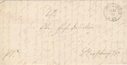 """CàD Allemand """" SUFFELNHEIM 12/11/70 """" Sur Lettre En Franchise > Poste Allemande à STRASBOURG - Guerre 70 - Postmark Collection (Covers)"""