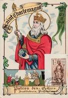 Carte Maximum - Saint Charlemagne - Patron Des Ecoliers, Instituteurs, Professeurs - Autres