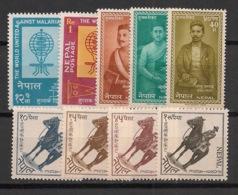 Nepal - 1962 - N°Yv. 124 à 132 - Année 1962 Complète - 9 Valeurs - Neuf Luxe ** / MNH / Postfrisch - Nepal
