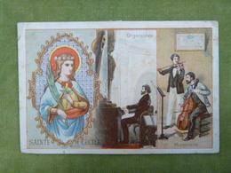 Chromo Série Saint Patron - Sainte Cécile - Musiciens - Organistes - Ibled