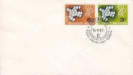 Belgium Blanco FDC Cover 1961 Europa CEPT Complete Set !! - 1961-70