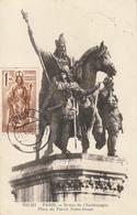 Carte Maximum - Statue De  Charlemagne  - Place Du Parvis à Notre-Dame Paris - Autres