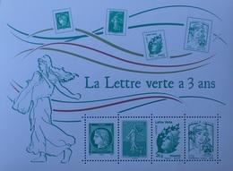 PTT/953 - 2014 - FRANCE - LA LETTRE VERTE A 3 ANS - BLOC N°F4908 NEUF** - Blocs & Feuillets