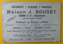 10132 - Musique - Pianos - Orgues Maiosn J.Rouget Toulouse 1916 - Cartes De Visite