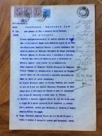 ACQUI 19/1/1920 - DOCUMENTO NOTARILE CON TABELLIONATO E  CON MARCHE DA BOLLO  TIMBRI E FIRME - Documenti Storici
