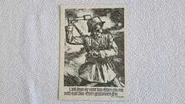 Postkarte 2 WK Soldat Handkranatenwurf Linolschnitt 1941 Militär - 1939-45