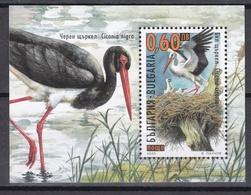 Tr_ Bulgarien - Mi.Nr. Block 242  - Postfrisch MNH - Tiere Animals Vögel Birds Störche Storch - Storks & Long-legged Wading Birds