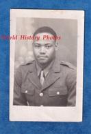 Photo Ancienne - Portrait Soldat Français Colonial / Antillais - 1944 1945 WW2 Uniforme US Homme Garçon Noir - Orte