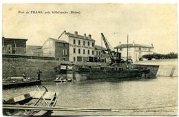 CPA 69 Rhône Villefranche-sur-Saône Port De Frans Péniche - Villefranche-sur-Saone
