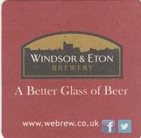 BEERMAT - WINDSOR & ETON BREWERY  (WINDSOR, ENGLAND)  - (Cat No 012) - (2011) - Portavasos