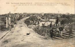 MILITARIA  GUERRE 1914- 18  SERMAIZE- LES- BAINS  A L' Angle Des Rues De Vitry Et De Cheminon   ..... - Guerre 1914-18