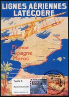 ESPAÑA SPAIN ESPAGNE (2020) - ATM Maximum Card 100 Años Correo Aéreo, First Airmail, Latécoère, Breguet XIV, Airplane - Correo Postal