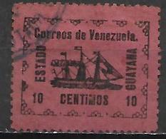 VENEZUELA.   1903.   Y&T N° 88 Oblitéré.     Bateau  /  Voilier.   Cote 85,00 Euros - Venezuela