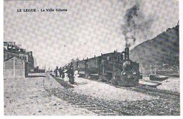 CPSM LE LEGUE La Ville Gilette - Stations With Trains