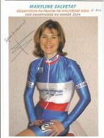 Maryline Salvetat - Kampioen Van Frankrijk Cyclo Cross - (wielrennen) Signee - Cycling