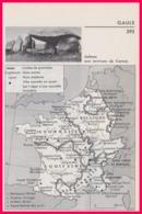Gaule. Carte De La Gaule Vers 60 Avant Jesus Christ. Vue D'un Dolmen Aux Environs De Carnac. Larousse 1960. - Documents Historiques