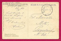 Carte Postale Correspondance De Guerre - Première Guerre Mondiale - Armée Austro Hongroise - 1. Weltkrieg