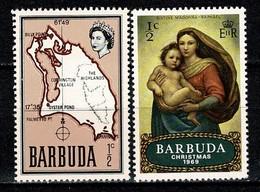 Barbuda 1968/1969 Yv 12**, 38**(Christmas) 2 Stamps MNH - Antigua & Barbuda (...-1981)