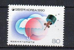 COREE DU SUD - SOUTH KOREA - 1990 - 30éme JOURNEE METEOROLOGIQUE MONDIALE - 30th WORLD WEATHER DAY - - Korea, South