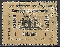 VENEZUELA.   1903.   Y&T N° 91 Oblitéré.     Bateau  /  Voilier.   Cote 55,00 Euros - Venezuela