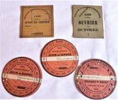 Exposition Universelle 1900, Jetons D'entrée, Ticket D'entrée Ouvrier - Tickets - Vouchers