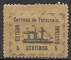 VENEZUELA.   1903.   Y&T N° 87 *.     Bateau  /  Voilier.   Cote 45,00 Euros - Venezuela