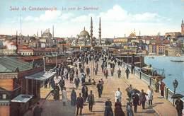 Turkey Constantinopel  Istanboel Istanbul Salut De Constantinople Le Pont De Stamboul    M 3292 - Turkey