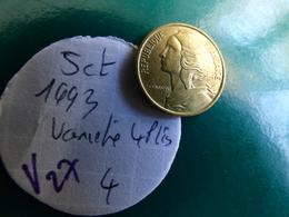 5 Centimes 1993 4 Plis - France