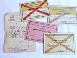 Exposition Universelle 1900, Permis De Circulation, Cartes De Service - Tickets - Vouchers