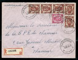 Doc. De HANZINNE - A A - Du 05/10/49 En Rec. - Poststempel