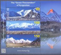 2020. Kyrgyzstan, Mountains, Seven-Thousanders In Kyrgyzstan, S/s, Mint/** - Kyrgyzstan
