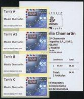 ESPAÑA SPAIN ESPAGNE (2020) - ATM - 100 Años Correo Aéreo, First Airmail, Latécoère, Breguet XIV, Airplane - SET, Série - Correo Postal