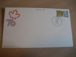 OTTAWA 1976 Yvert 603 USA Bicentennial Bicentenaire FDC Cancel Cover CANADA - 1971-1980