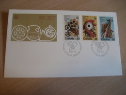OTTAWA 1976 Yvert 594/6 Montreal Olympic Games Olympics FDC Cancel Cover CANADA - 1971-1980