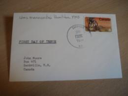 SACKVILLE 1974 Yvert 543 Colons Mennonites Manitoba FDC Cancel Cover CANADA - 1971-1980