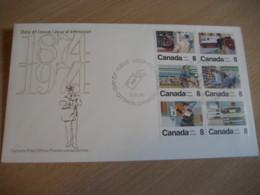 OTTAWA 1974 Yvert 534/9 Postman Postmen Van Centenary FDC Cancel Cover CANADA - 1971-1980