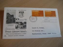 OTTAWA 1973 Yvert 502 Prince Edward Island Charlottetown Tree FDC Cancel Cover CANADA - 1971-1980