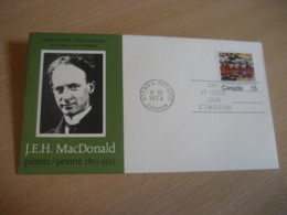 OTTAWA 1973 Yvert 500 J.E.H. MacDonald Painter Group Of 7 Painting FDC Cancel Cover CANADA - 1971-1980