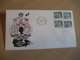 OTTAWA 1971 Yvert 470 Bibliotheque Library Parliament QEII Royal Family Royalty FDC Cancel Cover CANADA - 1971-1980