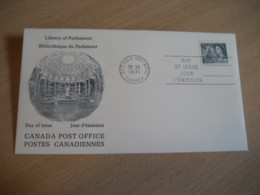 OTTAWA 1971 Yvert 470 Library Bibliotheque Parliament QEII FDC Cancel Cover CANADA - 1971-1980